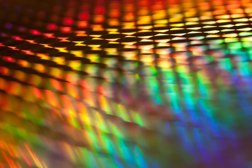 カラフルな虹色のおしゃれな素材の写真画像