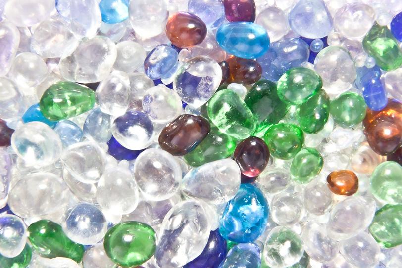 キラキラなガラスの玉の写真画像
