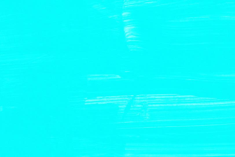 綺麗な水色をペイントした壁紙