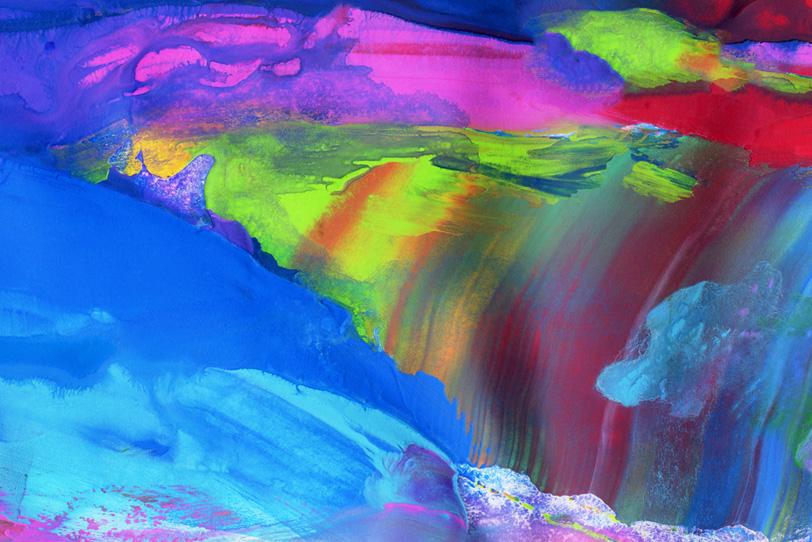 鮮彩な絵具を塗ったおしゃれな壁紙