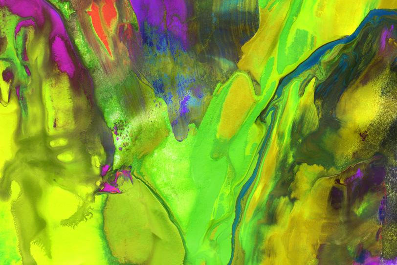 黄色・黄緑・紫色の鮮やかな壁紙
