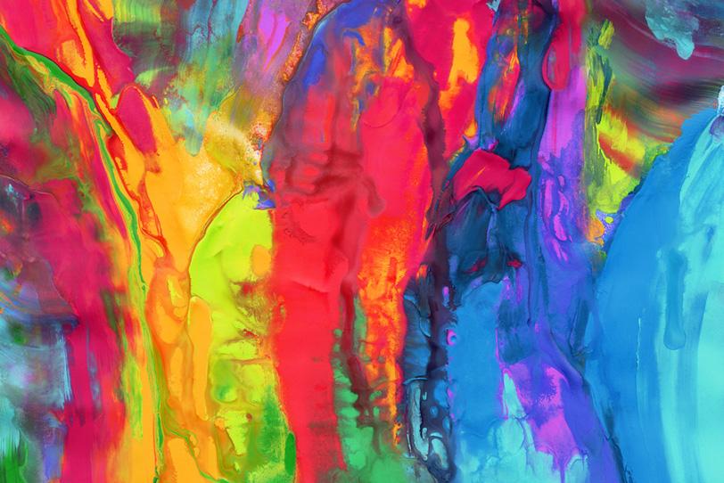 カラフルな色彩のマーブル柄の壁紙