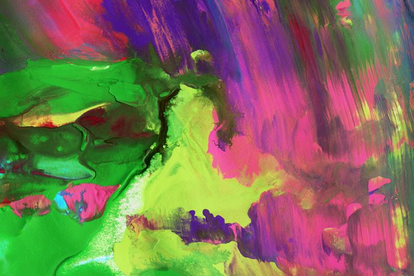 黄緑色とピンク色がにじむオシャレ壁紙