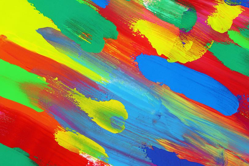 派手な色彩がかっこいいカラフルな壁紙
