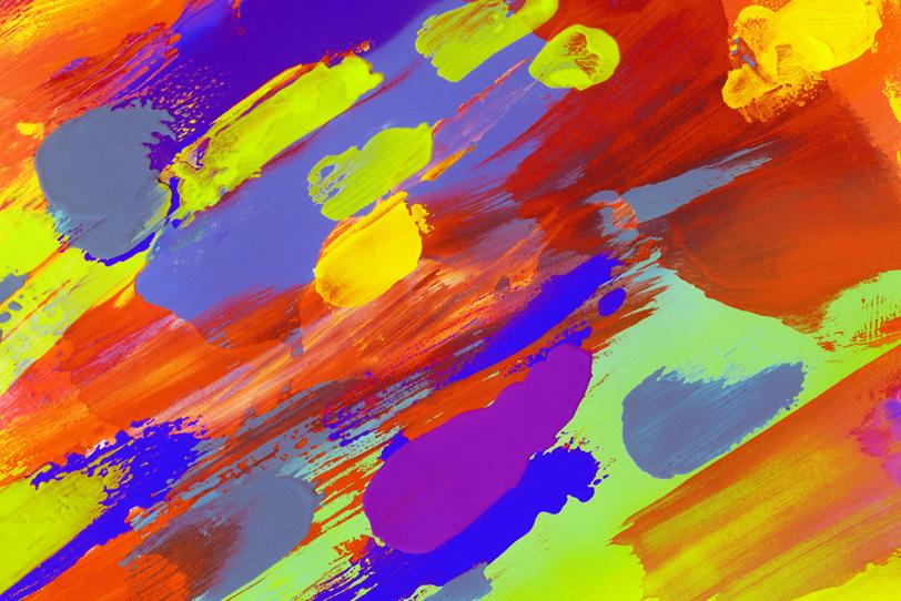 カラフルな色彩をペイントした壁紙