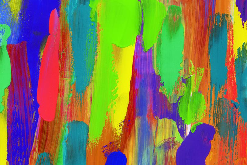 カラフルな絵具を塗った綺麗な壁紙