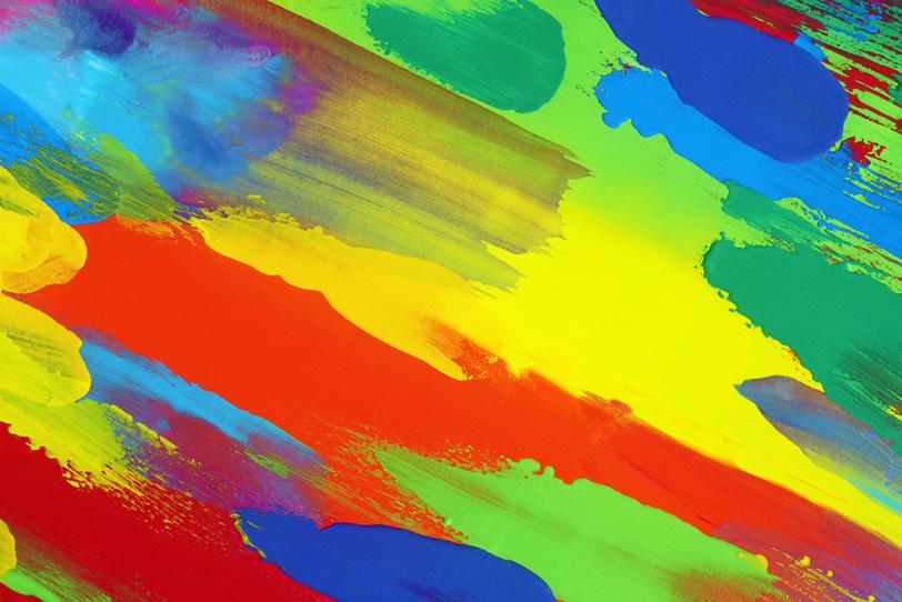 鮮やかな色彩が集まったカラフル壁紙