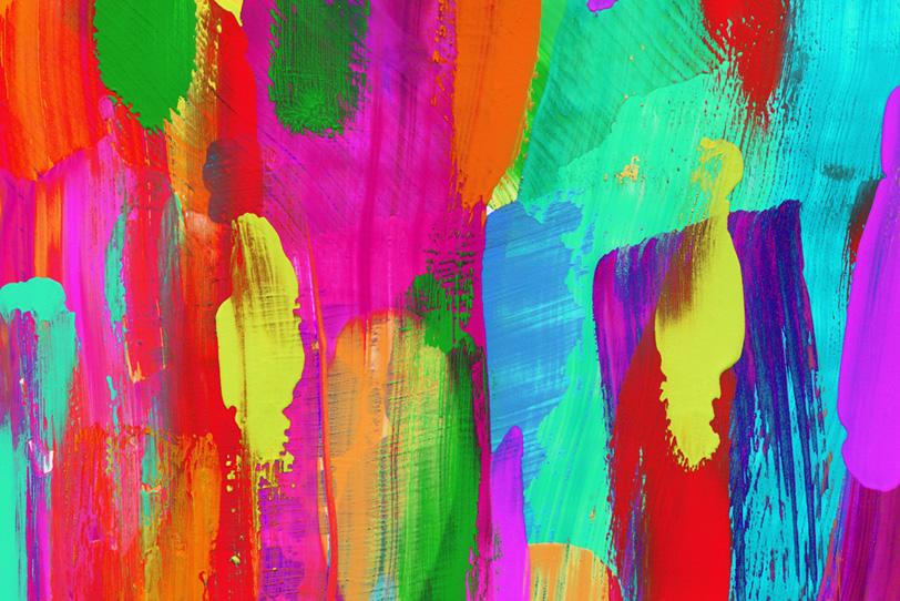かわいいビビットカラーの綺麗な壁紙