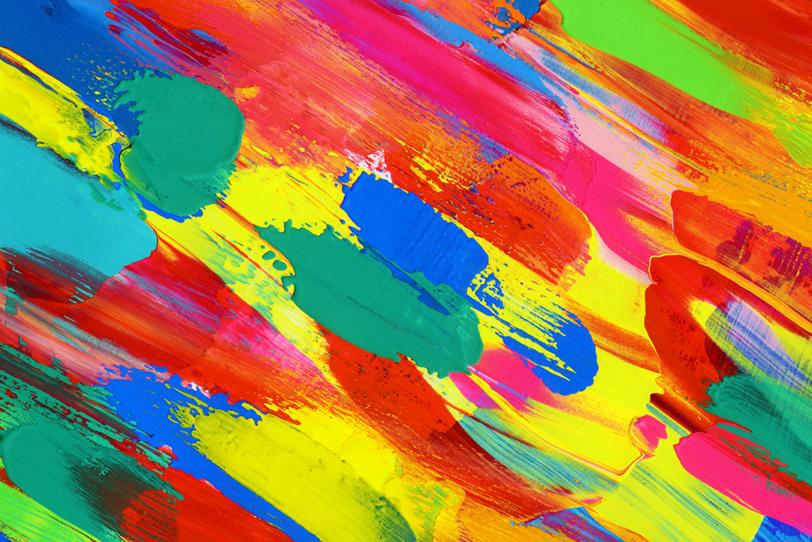 カラフルな水彩筆塗りのおしゃれな壁紙