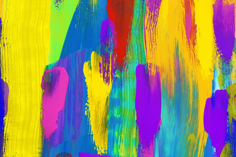 おしゃれな水彩のカラフルな壁紙