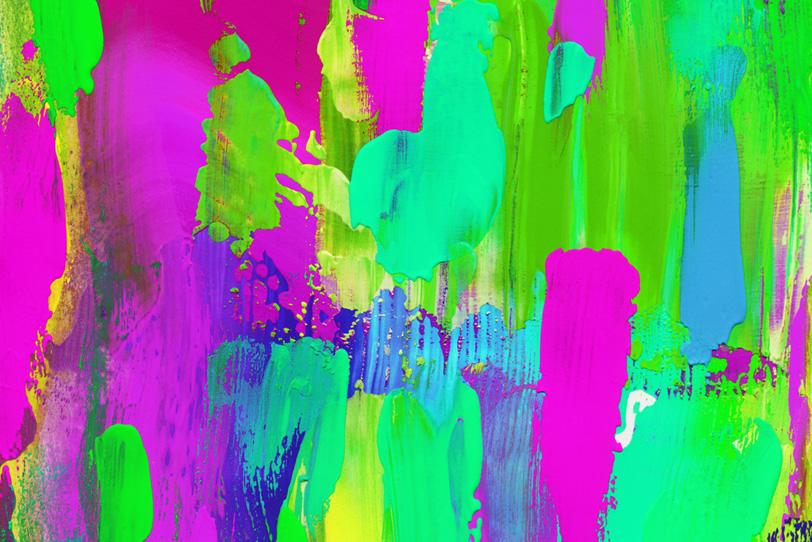 カラフルなグリーンとピンクの壁紙