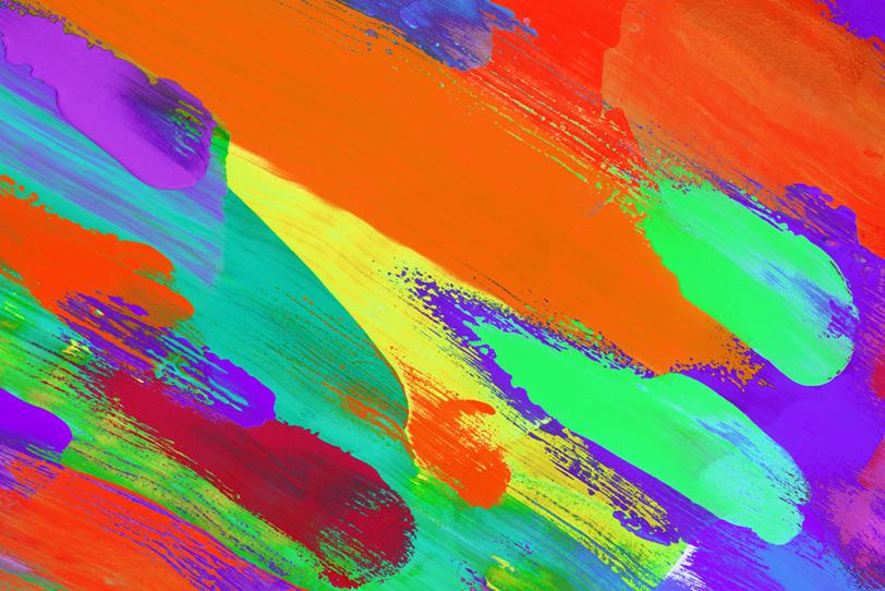 カラフルな水彩絵具で描いた美しい壁紙