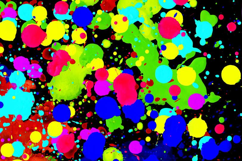 派手な色彩がカッコイイ綺麗な壁紙