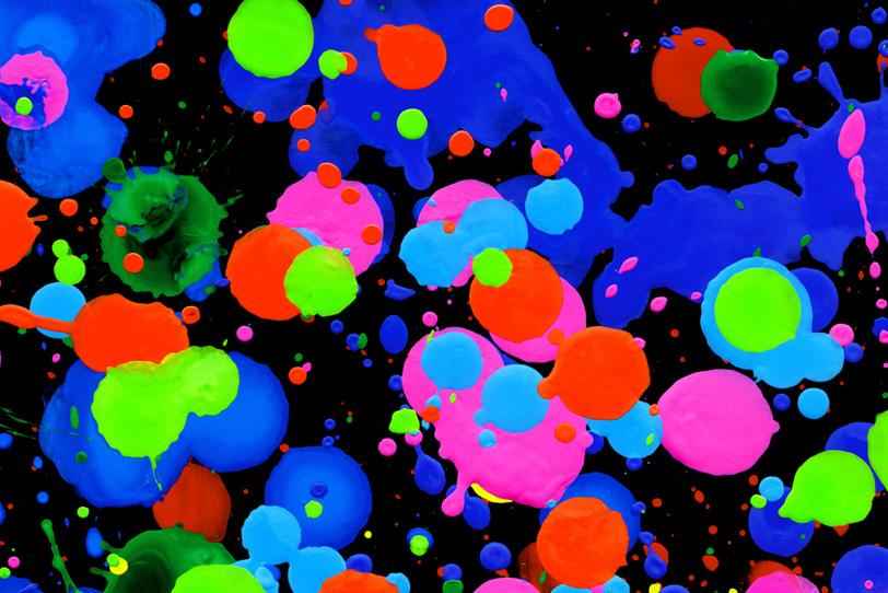 鮮やかな色彩が集まったキレイな壁紙