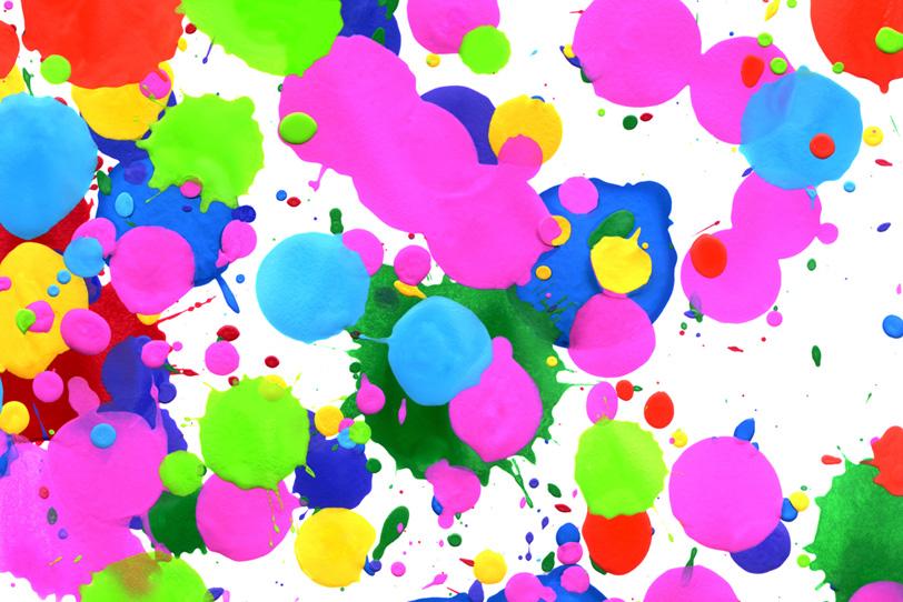 カラフルな水玉模様のかわいい壁紙