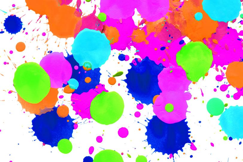 鮮やかな色彩が集まった可愛い壁紙