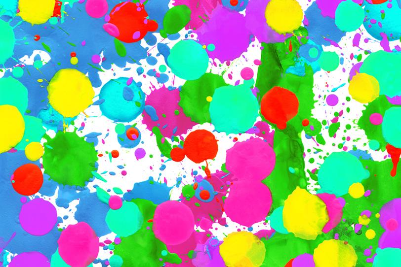 蛍光カラーの可愛いペインティング壁紙
