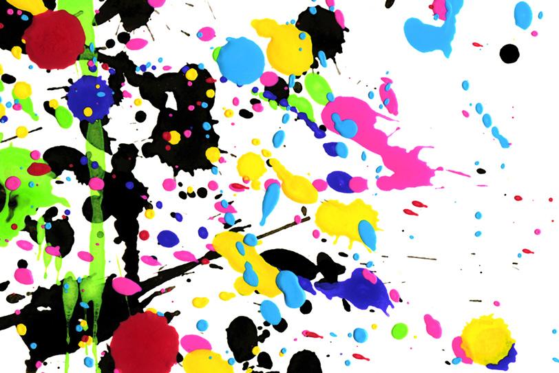 かわいい水彩ペイントと白背景の壁紙