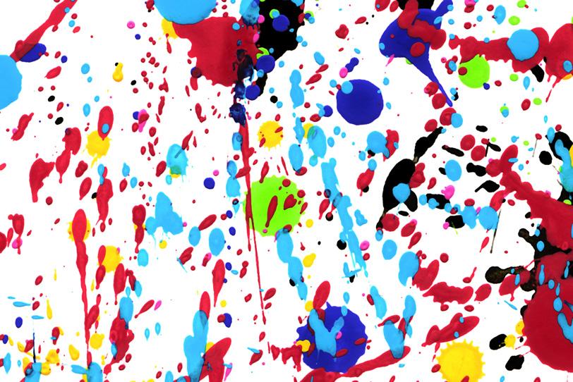 白い背景にカラフルな水彩絵具の壁紙