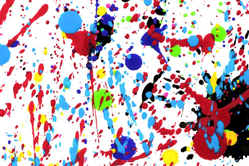 白背景にオシャレな水彩ペイントの壁紙