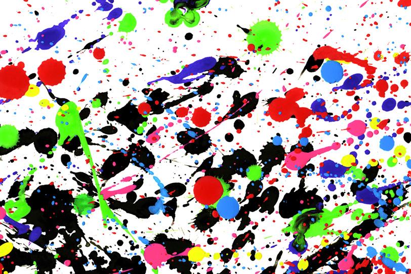 黒と色鮮やかな水彩絵具の背景壁紙