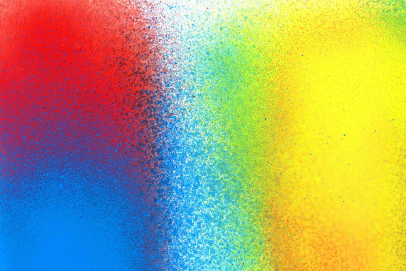 赤青黄のスプレーペイントがクールな壁紙