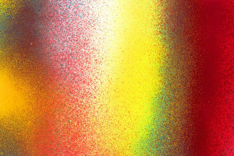 黄色と赤色のスプレーテクスチャ壁紙