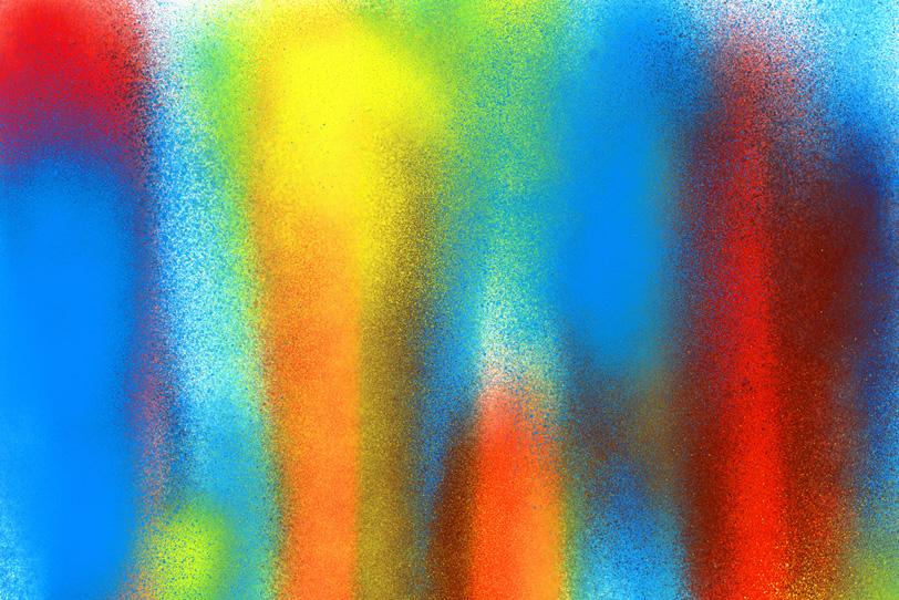 おしゃれな赤青黄色のグラデーション壁紙