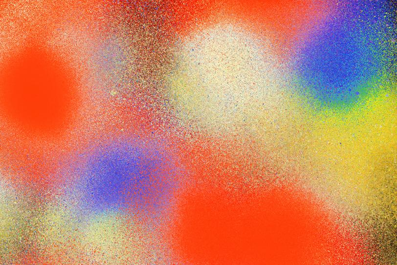 カラースプレーしたグラデーション壁紙