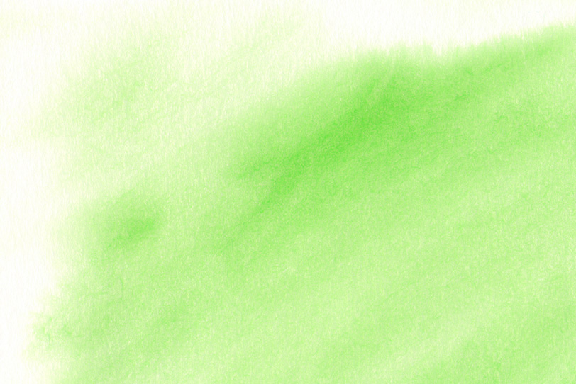 筆で暈した黄緑色のグラデーションの写真画像