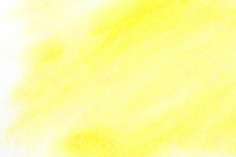 カナリヤ色の水彩ぼかし背景の写真画像