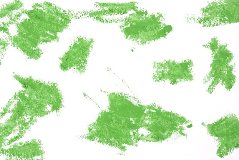 黄緑色のクレヨンのタッチの写真画像