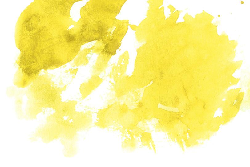 シトラスを薄く塗った画用紙の写真画像