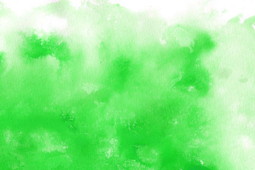紙に滲む鮮やかなグリーンの写真画像