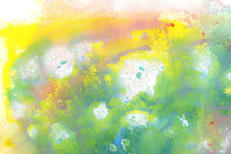 春をイメージした水彩画の背景の写真画像