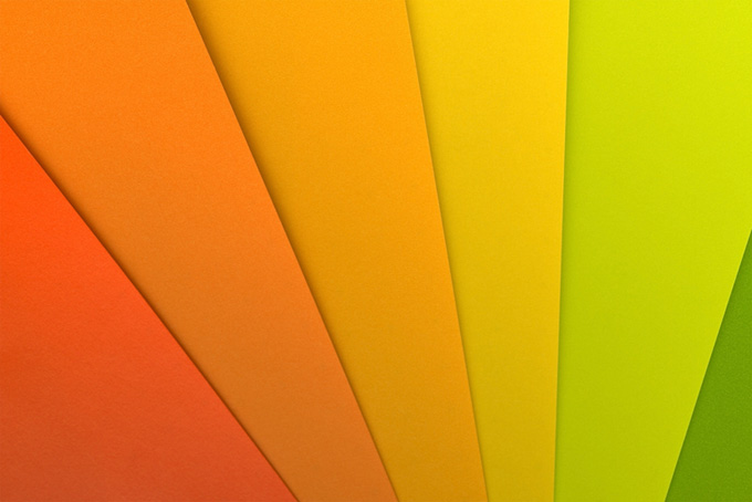 オレンジ 黄色 緑