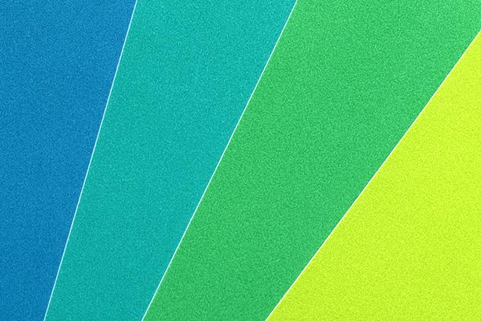 青緑黃の色合い