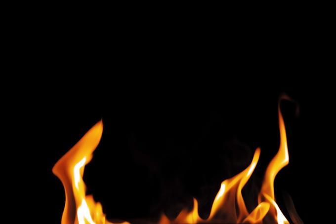 燃える火のテクスチャ