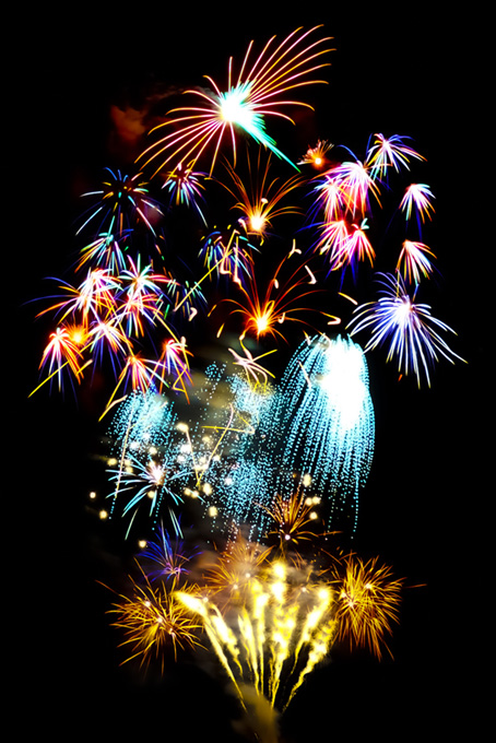 スターマイン花火が彩る花火大会