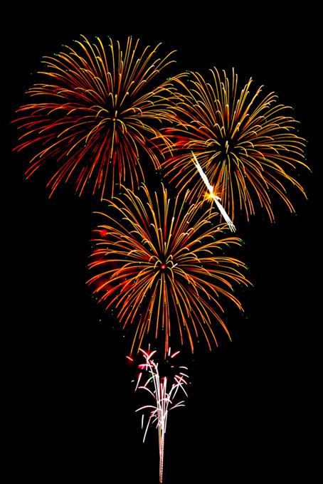夏夜の空に広がる花火