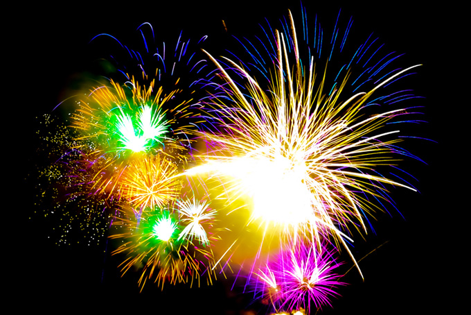 華やかな花火の花火大会