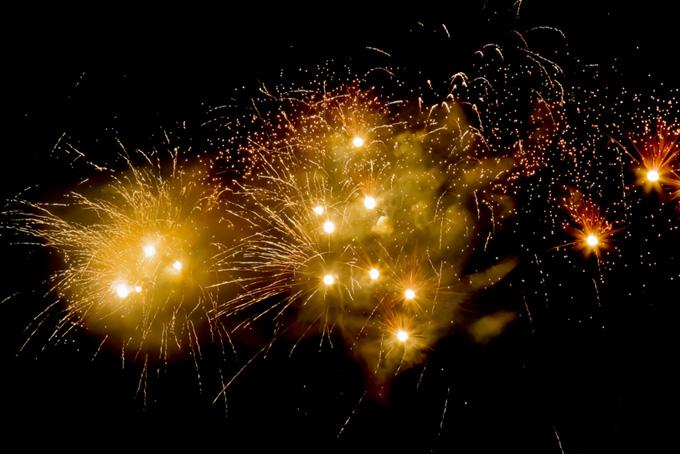 輝く花火の花火大会
