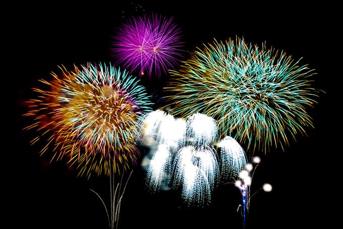 綺麗な花火の花火大会
