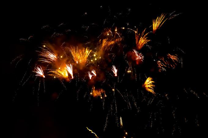 美しい花火の花火大会