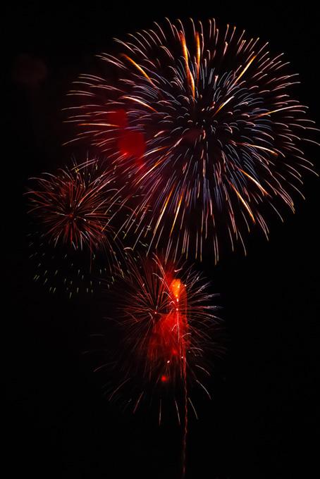 夜空を飾る花火のテクスチャ