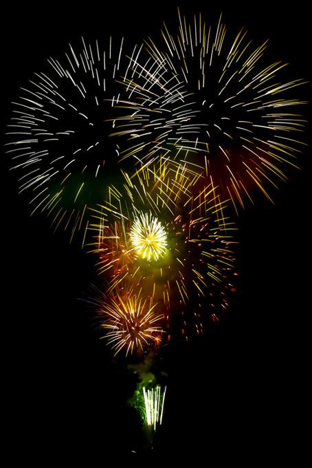 夜空を彩る花火のテクスチャ