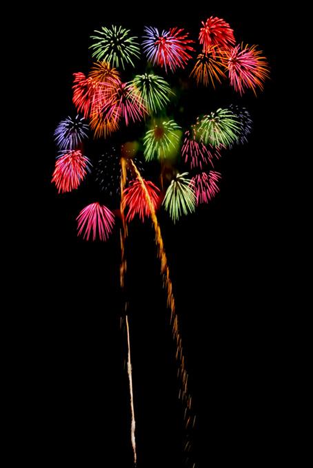 美しい花火のテクスチャ