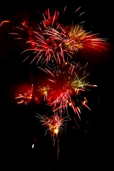 夜空に煌めく花火のテクスチャ