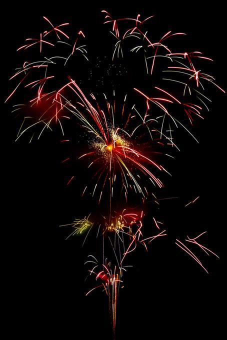 光り輝く花火のテクスチャ