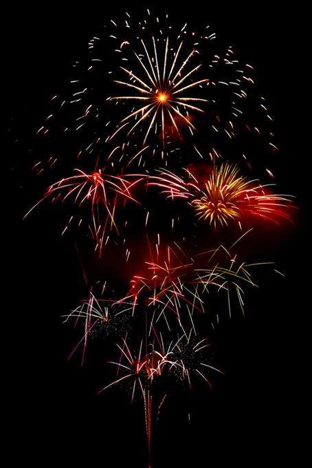 キラキラと光る花火と夜空のテクスチャ